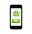 shopping with online phone vector image vector image
