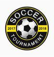 soccer logo design of round sports emblem vector image vector image
