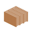 stack of wooden pallets isometric icon vector image