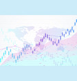 stock market and exchange candle stick graph vector image vector image