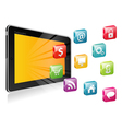 Tablet PC with a blank place for icon vector image vector image