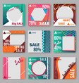 templates set with gradient elements ad posters vector image