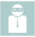 the man incognito in a mask the white color icon vector image vector image