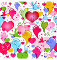 valentine colorful pattern vector image vector image
