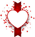 valentine s background with heart and ribbon vector image vector image