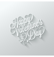 valentines day vintage lettering cut paper vector image vector image
