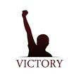 Victory logo template vector image vector image