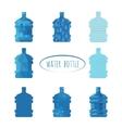 Water bottle sign vector image