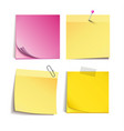 yellow and rose stick note isolated on white vector image
