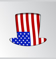an silhouette uncle sam patriotic vector image