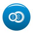 coin icon blue vector image