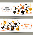 Halloween banners set on white background vector image