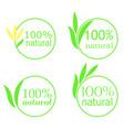 100 organic emblem vector image vector image