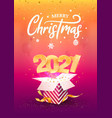 2021 happy new year a4 card vector image