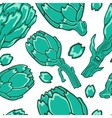 A colorful artichokes seamless pattern vector image vector image
