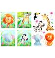 african zoo or safari baanimals for children vector image