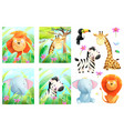 african zoo or safari baby animals for children vector image