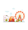 amusement park house of crooked mirrors roller vector image vector image