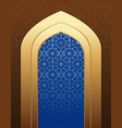 arabic architecture islamic design background vector image vector image