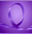 awareness purple ribbon vector image vector image