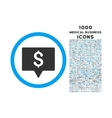 bank map pointer rounded symbol with 1000 icons vector image vector image