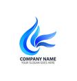 Blue Leaf Element Logo Icon vector image vector image