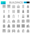 building in city icons vector image