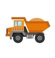 Building under construction tripper truck machine vector image vector image