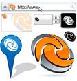 Business 3D swirl logo design vector image vector image