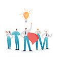 business character team work leadership concept vector image