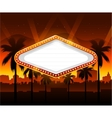Casino banner with vegas city in background vector image vector image