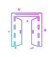 door icon design vector image vector image