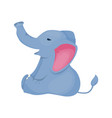 elephant character tropical zoo animal wild vector image vector image