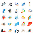 film business icons set isometric style vector image vector image