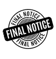final notice rubber stamp vector image vector image