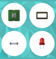 flat icon technology set of resistor unit vector image vector image