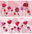 floral love design vector image vector image