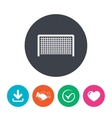 Football gate sign icon Soccer Sport symbol vector image vector image