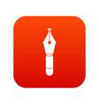 fountain pen nib icon digital red vector image vector image