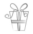 gift box with ribbon icon image vector image vector image