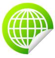 globe outline sticker vector image