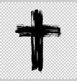 hand drawn cross grunge cross cross made with vector image vector image