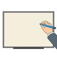 hand writes on white board pop art vector image vector image