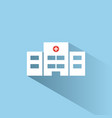 hospital color icon with shadow on a blue vector image vector image