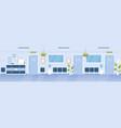 hospital reception hall clinic interior cartoon vector image vector image