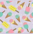 ice cream repeat seamless pattern pastel vector image