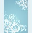imaginative tech background vector image