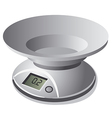 kitchen scale weight vector image vector image
