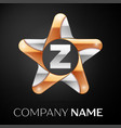 letter z logo symbol in the colorful star on black vector image vector image