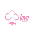 love chef logo design inspiration vector image